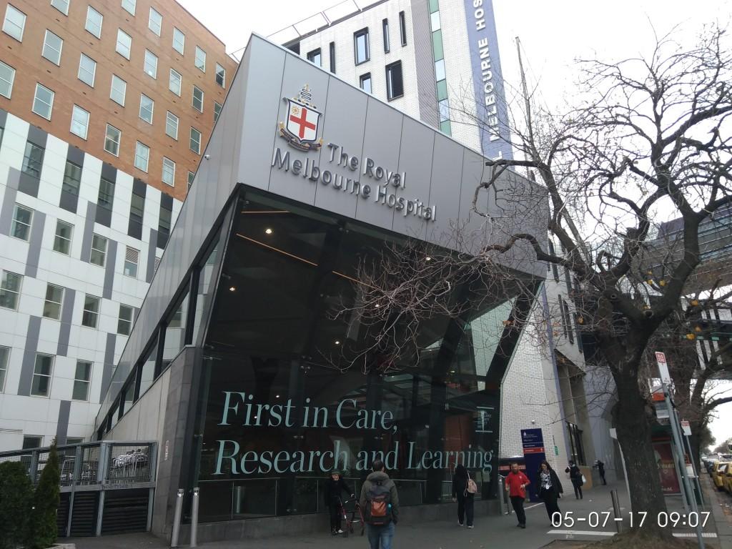 Hier habe ich unseren Kunden besucht. Krankenhäuser scheinen mich anzuziehen. :)